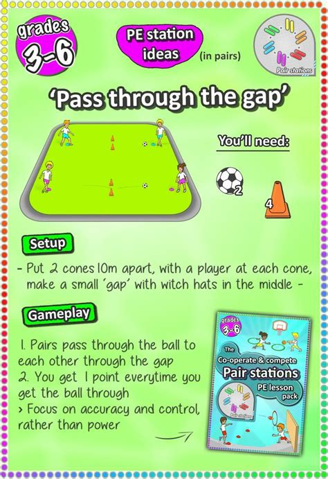 operate compete  fun pair skill stations cards printable soccer drills  kids gym