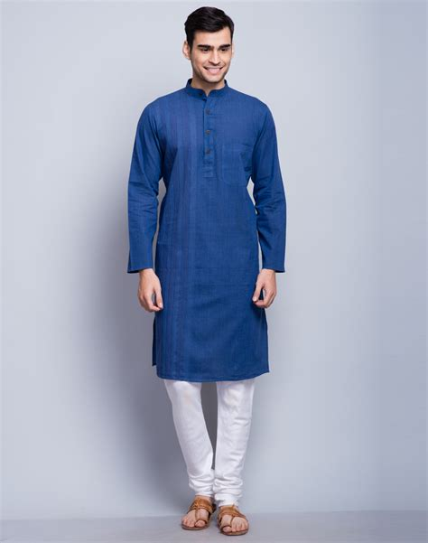 design house kurta online buy fabindia blue cotton plain front stitched long fitted