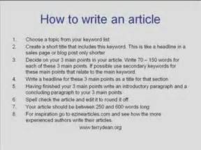 How To Make A News Paper Article - how to write an article