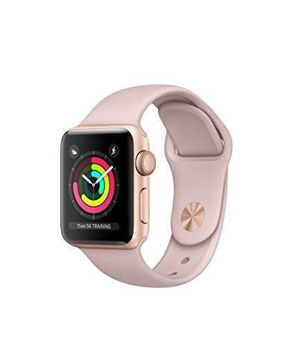 Apple Series 3 Gps 38mm Gold Alum With Pink Sand Sport Band Bnob apple series 3 gps gold aluminum with pink sand sport band 38mm smart watches