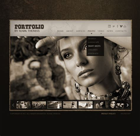 html5 photography template photographer html5 gallery website template best website