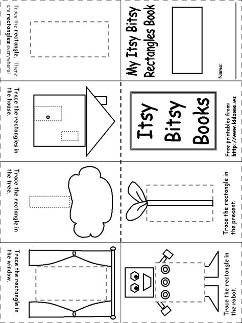 Rectangle Worksheet by Itsy Bitsy Book