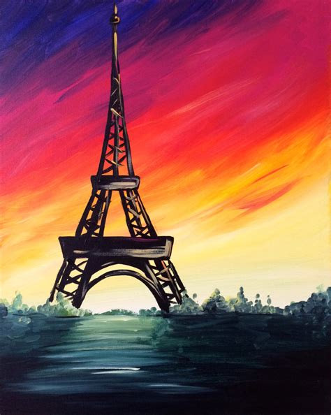 paint with a twist eiffel tower april 30 2016 5 00pm canvas and corks