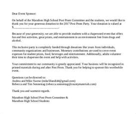Sponsorship Letter For School Sle Sponsor Thank You Letter 26 Documents In Pdf Word