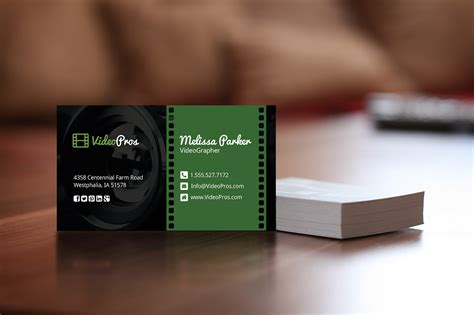videography business card business card templates  creative market