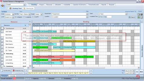 resource planning and scheduling software youtube