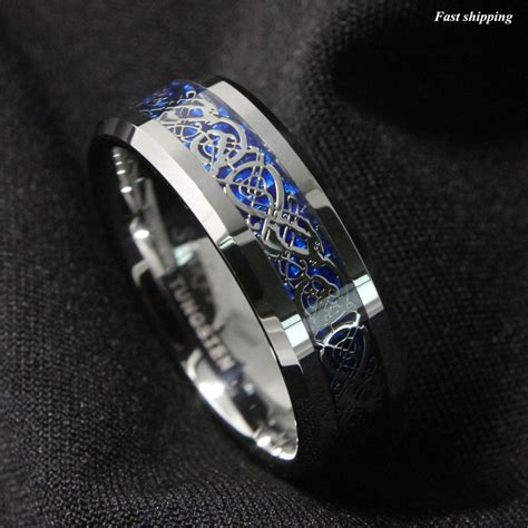 ring bands for jewelry 8 6mm silvering celtic tungsten carbide ring