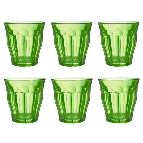 duralex picardie coloured glass tumblers 250ml set of 6 various colours ebay