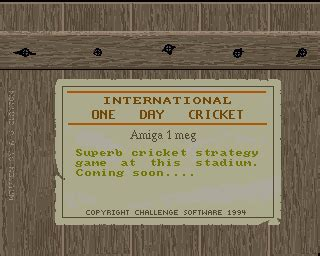 emuparadise cricket 2000 international one day cricket rom