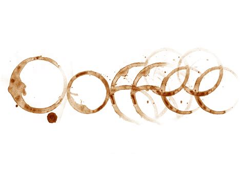 coffee cup stains art