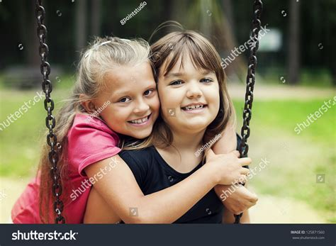 swinging with friends video best friends swinging park stock photo 125871560