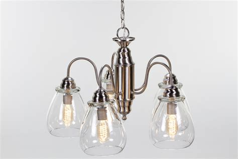 Chandelier Edison Bulbs Edison Bulb Chandelier Pear Glass Dan Cordero
