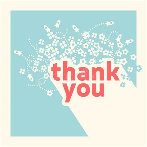 illustrator template thank you card thank you card design template stock vector illustration