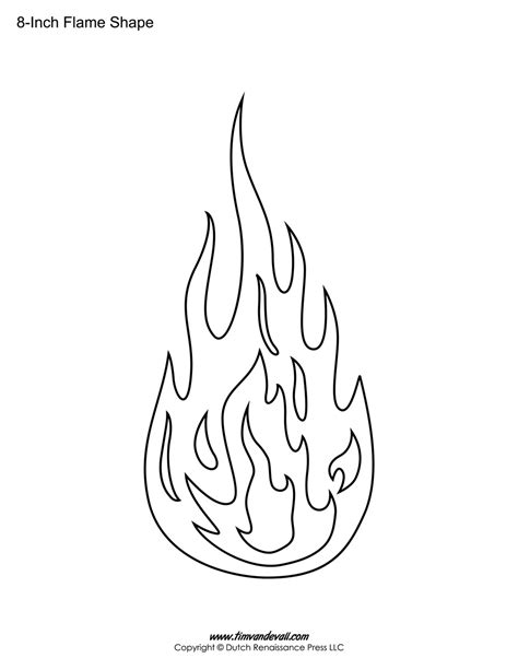 template of flames printable stickers templates shapes