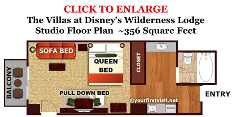 disney world boardwalk villas floor plan sleeping space options and bed types at walt disney world