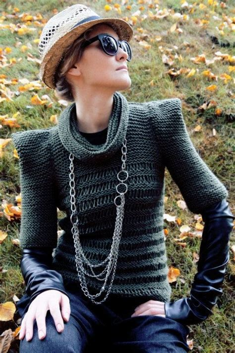 Sweater Dod Bro Jidnie Clothing olive green fall autumn knit sweater modern fashion triangle