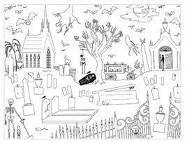 hallmark coloring pages halloween halloween coloring pages grave scene printable halloween