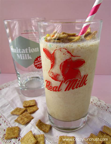 cereal milkshakes and real milk crazy for crust