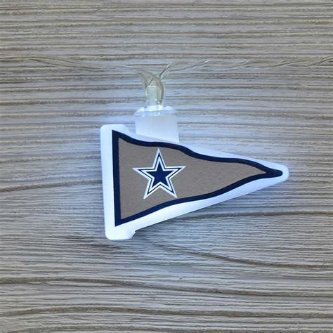 dallas lights nfl dallas cowboys led pennant lights battery operated