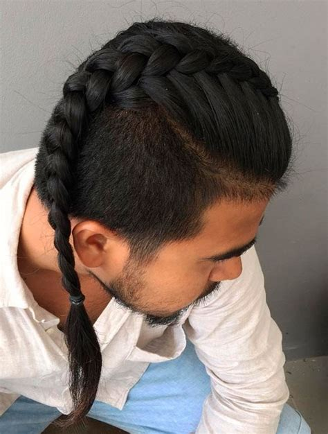 guy with french braids shaved side 20 new super cool braids styles for men you can t miss