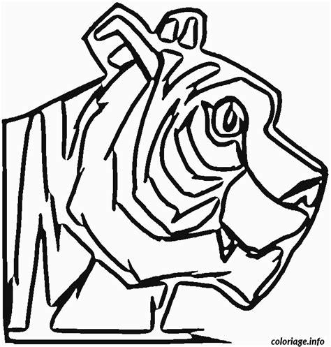 Coloriage Tete De Tigre De Profil Dessin