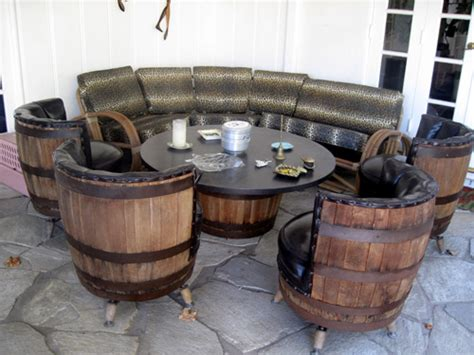 Barrel Table And Chairs by Vintage Barrel Table Chairs The Allee Willis Museum Of