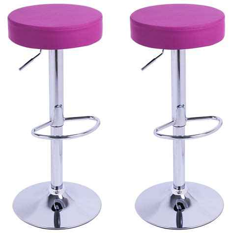 Bar Stools Purple by 2 X Bar Stools Faux Leather Swivel Breakfast Kitchen Stool