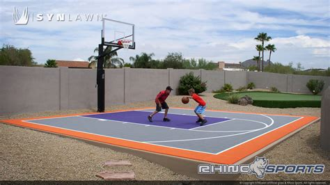 multi sport backyard court system synlawn  canada
