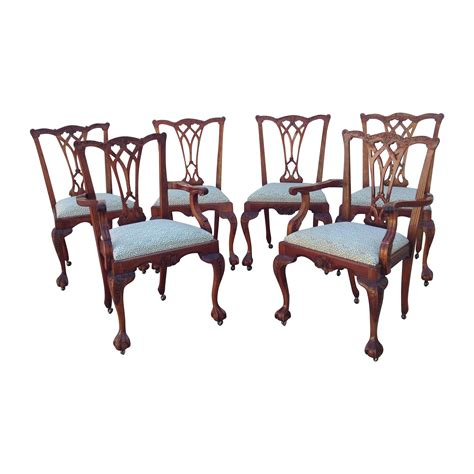 bevan funnel chippendale chairs set of 6 chairish