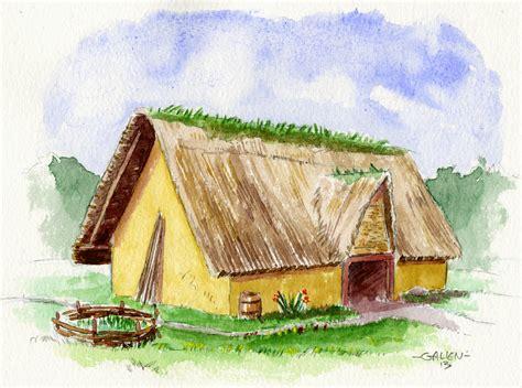 hutte gauloise dessin cuisine gauloise part 3 galienprod