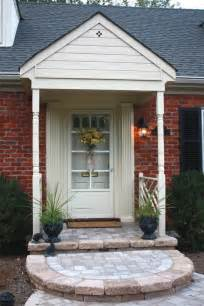 exterior charming small front porch decoration using red
