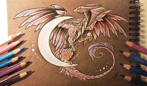 dragon moon tattoo moon by alviaalcedo deviantart on deviantart