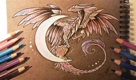 dragon moon tattoo moon by alviaalcedo deviantart on deviantart
