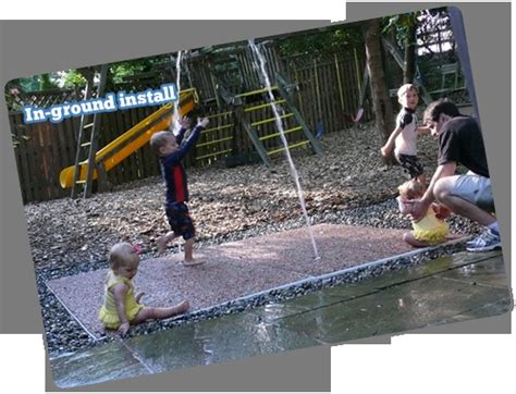 backyard splash pad diy diy splash pad for our new yard outdoor projects