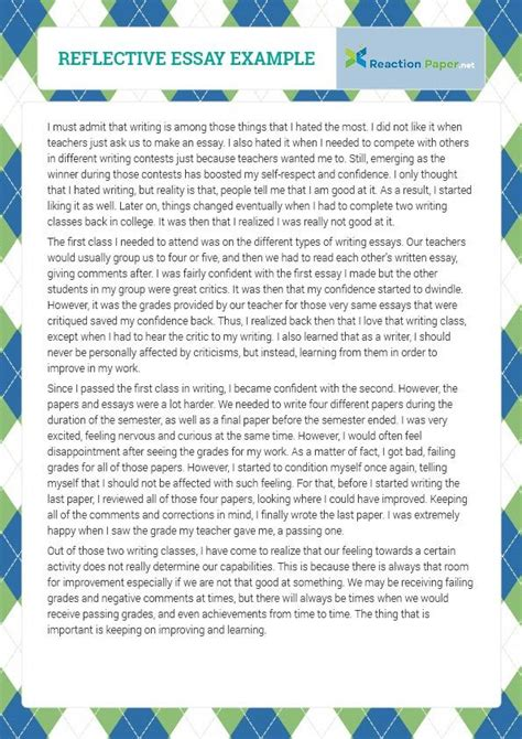 Writing Reflective Essays by 17 Best Ideas About Essay Exles On Compare And Contrast Exles How To Write
