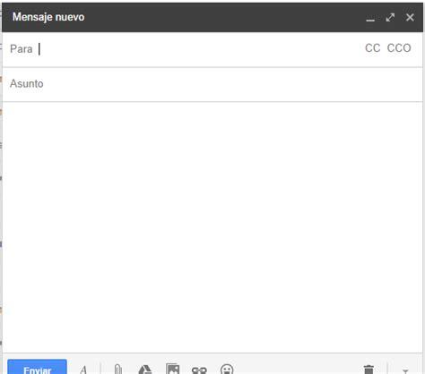 bandeja de entrada de correo electronico redactar un correo electr 243 nico desde la bandeja de entrada