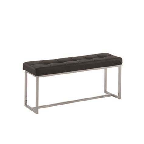 bench outlet canada nspire tufted light grey fabric chrome bench canada