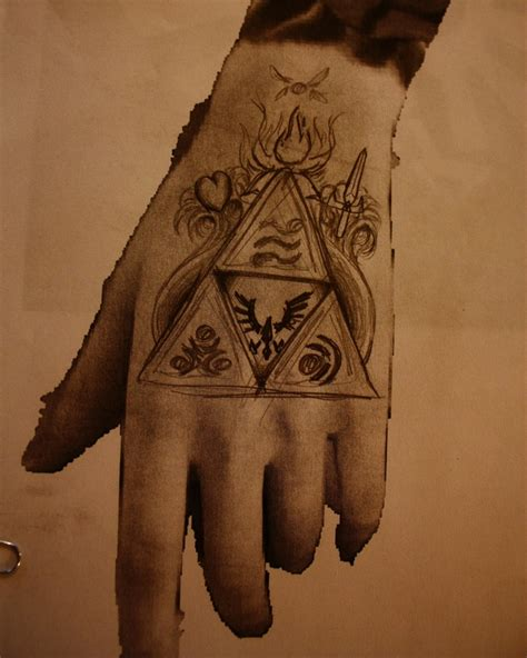 triforce hand tattoo triforce design 1 3 by bigshotartist on deviantart