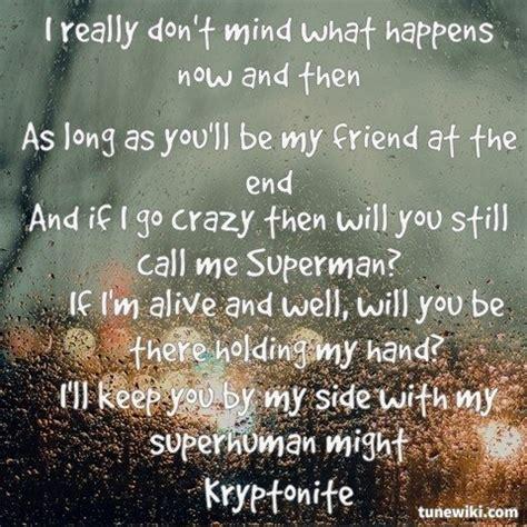 3 Doors Kryptonite Lyrics by Lyricart For Quot Kryptonite Quot By 3 Doors Other