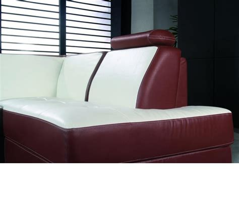 bonded leather sectional sofa dreamfurniture com 2234 modern bonded leather