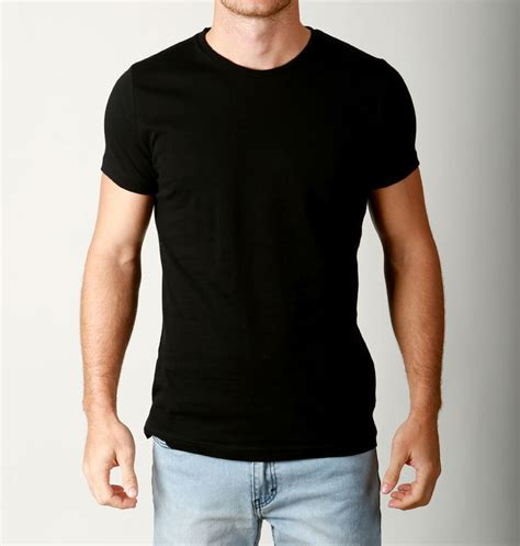 Tees Black Karambol D C mens premium cotton crew neck tees quality plain t shirts