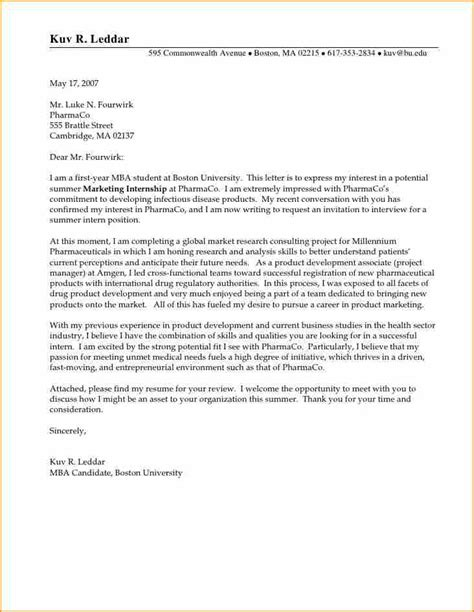 exle of an internship cover letter 16 exles of cover letters for internship basic