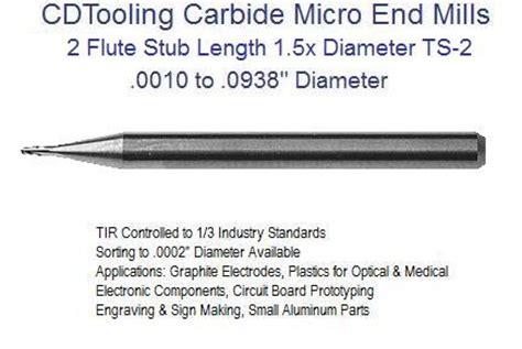 Endmill Carbide Diameter 5 Mm Baru 1 2 flute carbide micro end mills decimal size stub nose loc 1 5 x diameter 0030 0600