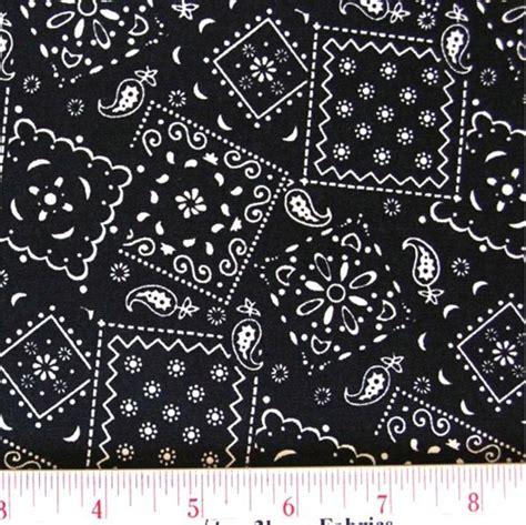 black pattern cotton fabric cotton fabric pattern fabric blazin bandanas black