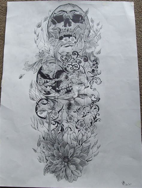 half sleeve tattoo drawing designs skull tattoos for sleeves tattoos