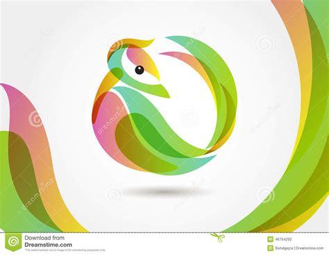 backdrop logo design abstract tropical bird on colorful background logo design