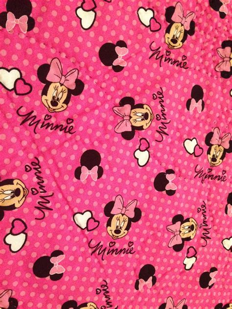 Minnie Mouse Quilt Panel Quot It S All About Minnie Quot Minnie Mouse Cot Panel Quilt
