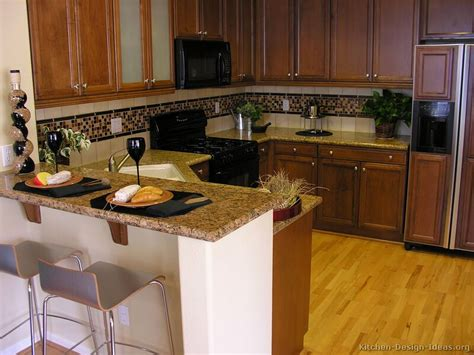 Kitchen Backsplash Ideas With Brown Cabinets Pictures Of Kitchens Traditional Wood Kitchens