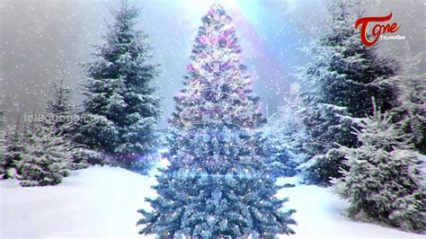 merry christmas christmas tree animated greeting youtube