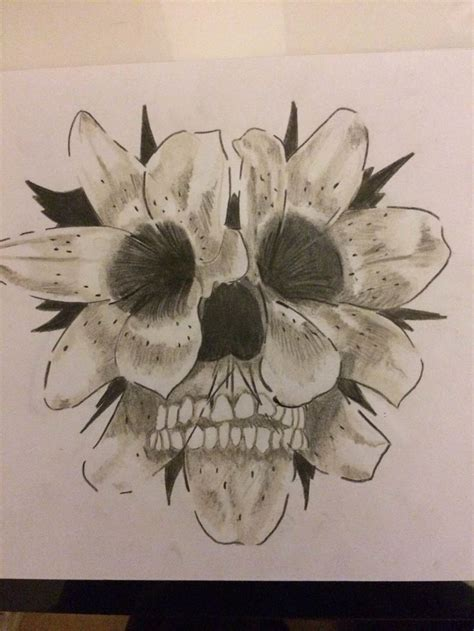 skull flowers tattoo designs 17 best images about skull tattoos on